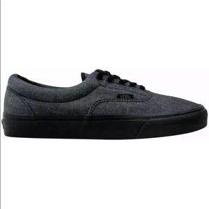 Vans era mono chambray black sneaker shoes